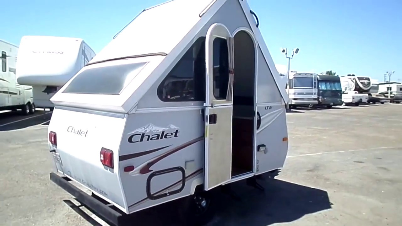 2014 Chalet Ltw A Frame Popup Bumper Pull Travel Trailer 15