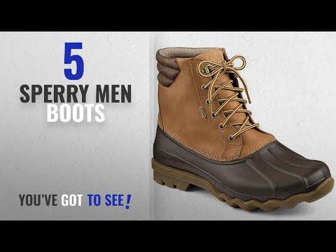 Top 10 Sperry Men Boots [ Winter 2018 ]: Sperry Top-Sider Men's Avenue Duck Boot, Tan/Brown, 10 M US