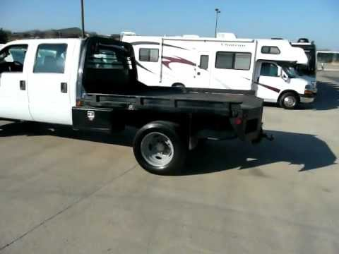 2008 Ford F550 Crew Cab Diesel 2WD 67K MILES 11' Flatbed Service Utility Truck .MOV
