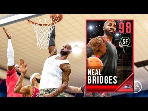 98 OVR NEAL BRIDGES PERFORMS SICKEST DUNK EVER SEEN! NBA Live 18 Live Run Gameplay Ep. 13
