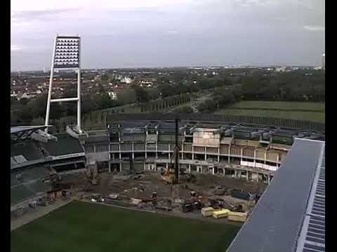 Umbau Weserstadion Ostkurve im Zeitraffer