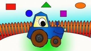 Мультфильмы про рабочие машины - Трактор - Весёлая Мозаика thumbnail