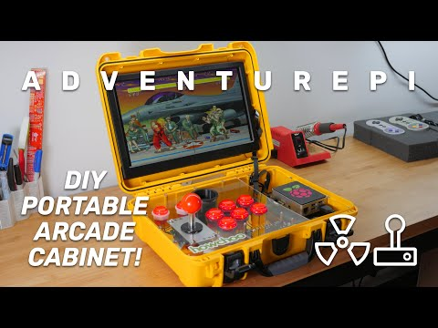 AdventurePi: The Ultimate DIY Raspberry Pi Portable Arcade Cabinet!