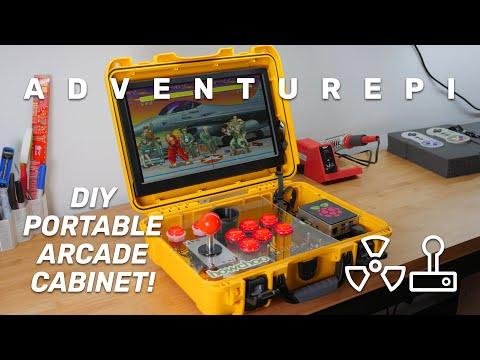 AdventurePi: The Ultimate DIY Raspberry Pi Portable Arcade Cabinet!