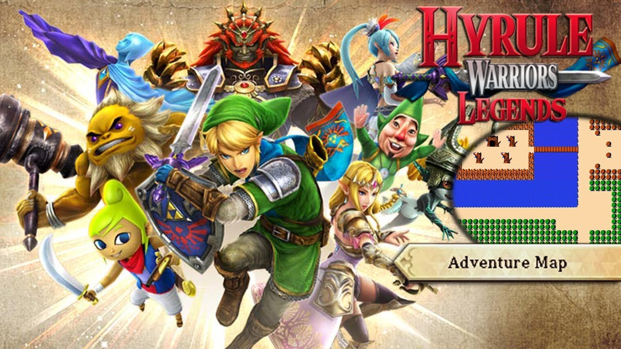 Adventure Map 50 A 1 A 2 Young Link Hyrule Warriors Legends 100 Youtube