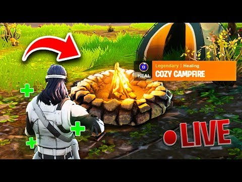 The New Cozy Campfire Item New Fortnite Update V2 1 0