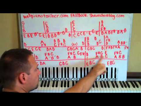 Forever Love Piano Lesson Part 1 Gary Barlow Youtube