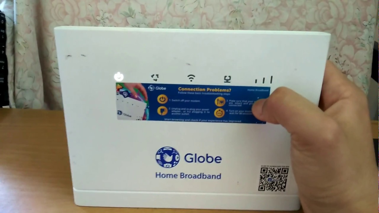 How to reset globe home broadband router forgotten for Globe tattoo internet load