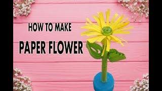 make Paper Flower|easy flower|paper flower cutting-Diy flower/ handmade-paper/ sunflower