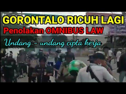 Gorontalo Ricuh Penolakan OMNIBUS LAW, Undang Undang Cipta Kerja