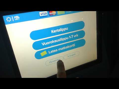 Ticket vending machine at Malmi train station, Helsinki 16.3.2018 8:20PM