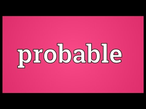 Probable Meaning