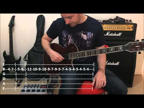 ACDC - Thunderstruck -- Quick Riff Guitar Lesson