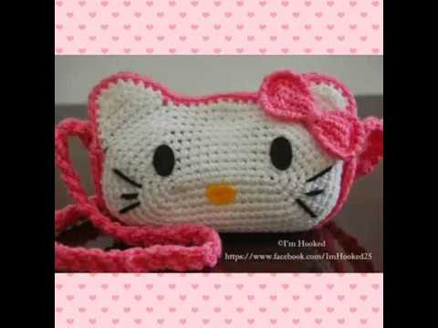 7417aa961 How to crochet a HELLO KITTY bag-step by step - YouTube