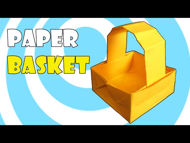 How To Make An Origami Paper Basket 8 Steps With Pictures