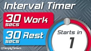 30 sec work 30 sec rest Interval Timer (30/30 interval timer) up to 60 reps