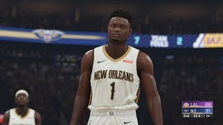 NBA 2k20 - New Orleans Pelicans vs Los Angeles Lakers Full Match | PS4 Pro (1440p 60fps)