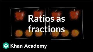 Ratios as fractions | Ratios, rates, aฑd percentages | 6th grade | Khan Academy