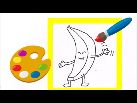 365 art challenge DAY2 BANANA Drawing Easy ¦ How To Make Banana Drawing For Kids ¦ CUTE