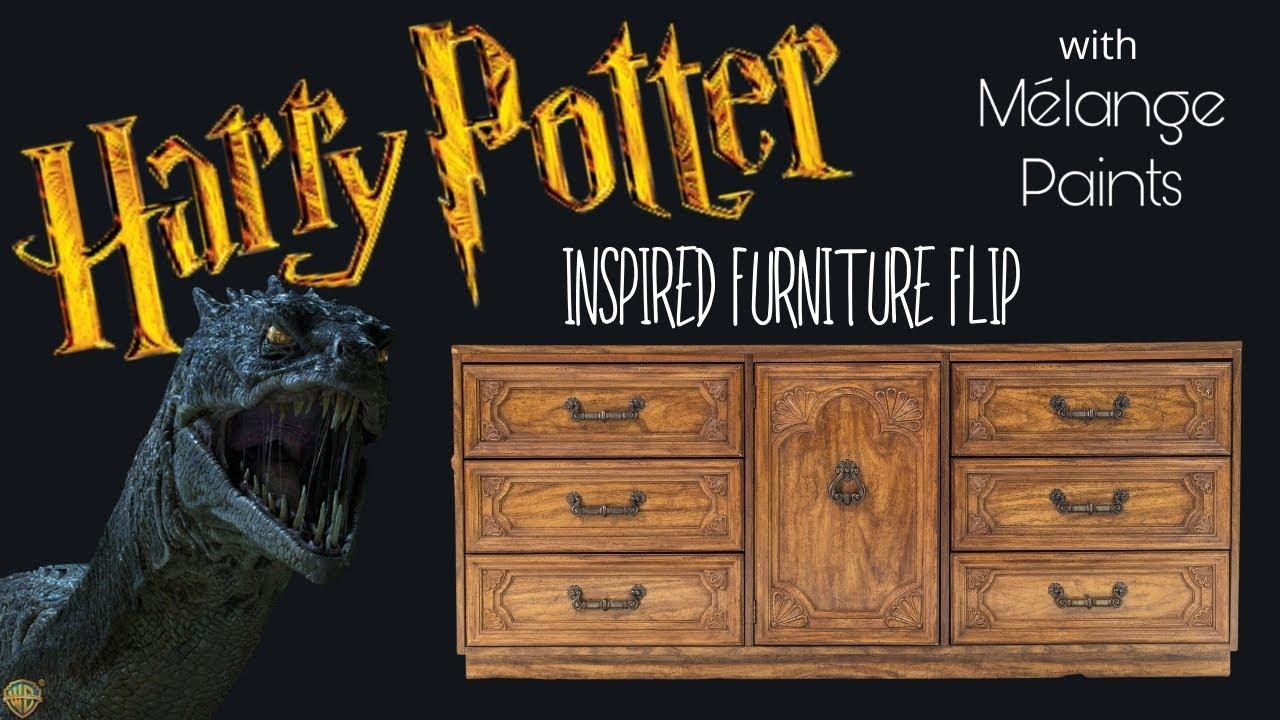 Harry Potter Inspired Furniture Flip with Basilisk Black from Melange