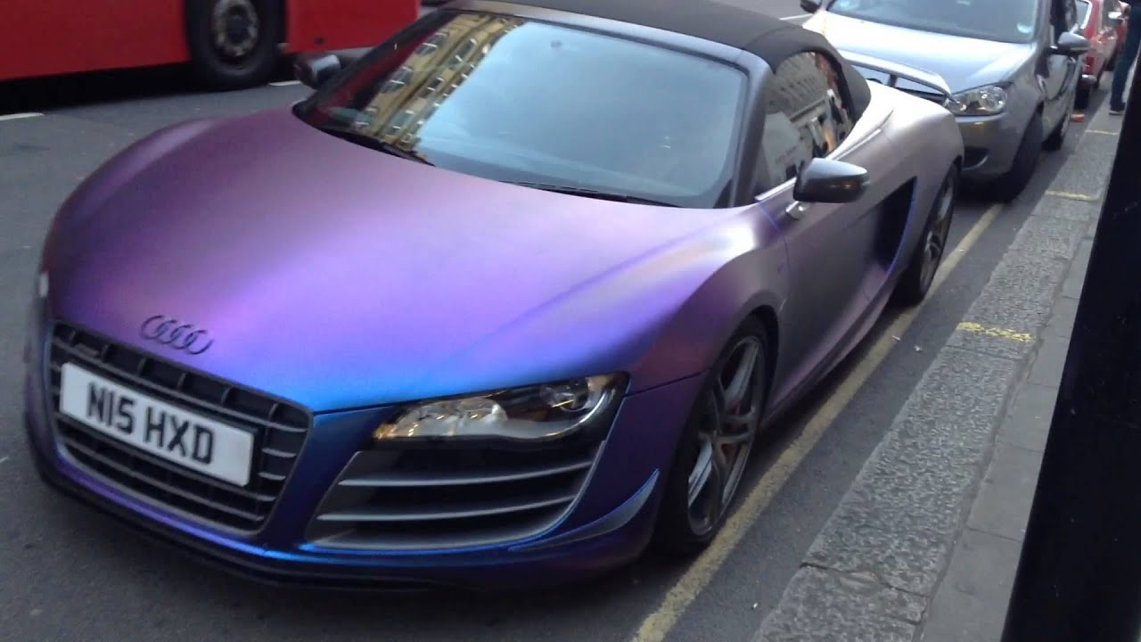 CRAZIEST wrap on a AUDI R8 ? - YouTube