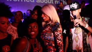 Nicki Minaj in a Hollywod Club with Tyga & The Game   Says NO To Camera!
