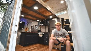 16 Year Old Builds Tiny House