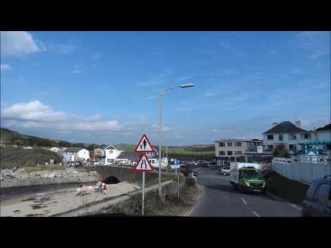 Mawgan Porth Drive Through Dash Cam Video Cornwall 12th July 2017