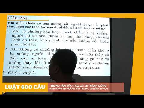 Lý Thuyết 600 Câu Hỏi Luật GTĐB 2020 Phần CHỮ ( Câu 223 - 304 ) Phần CUỐI - Thầy Nguyên