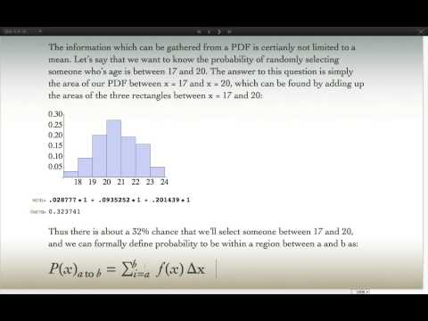 Probability Density Functions and Expectation Value Explained