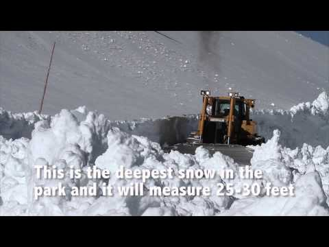 Crater Lake Snowplowing