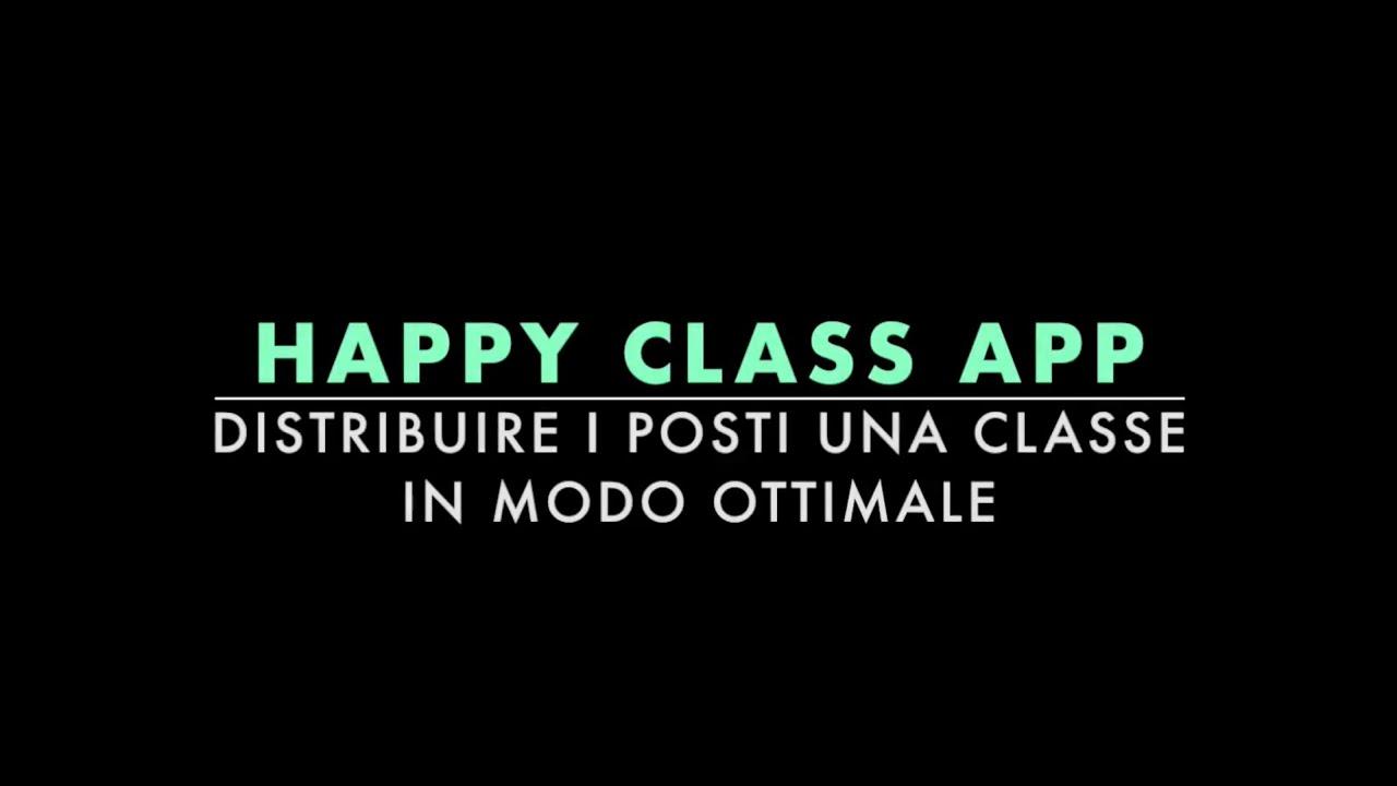 happyclassapp distribuire i posti in una classe in modo ottimale