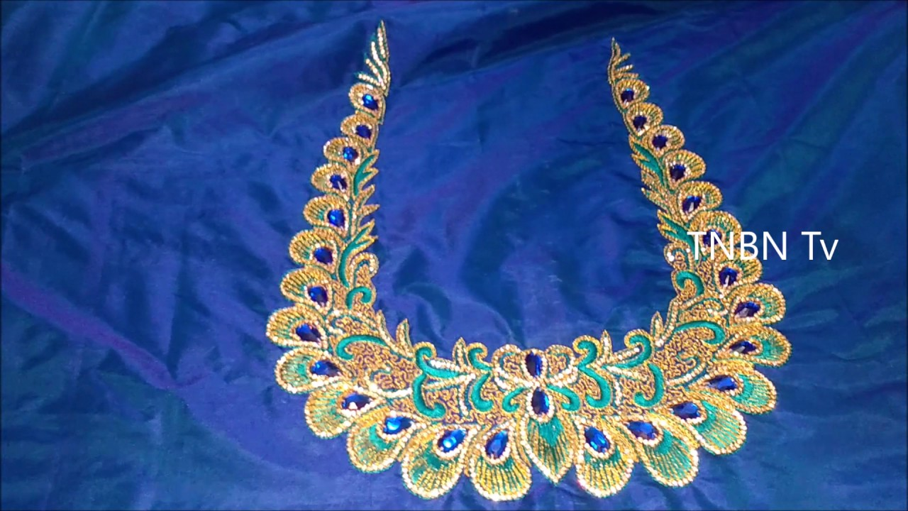 Zardozi embroidery blouse designs hand