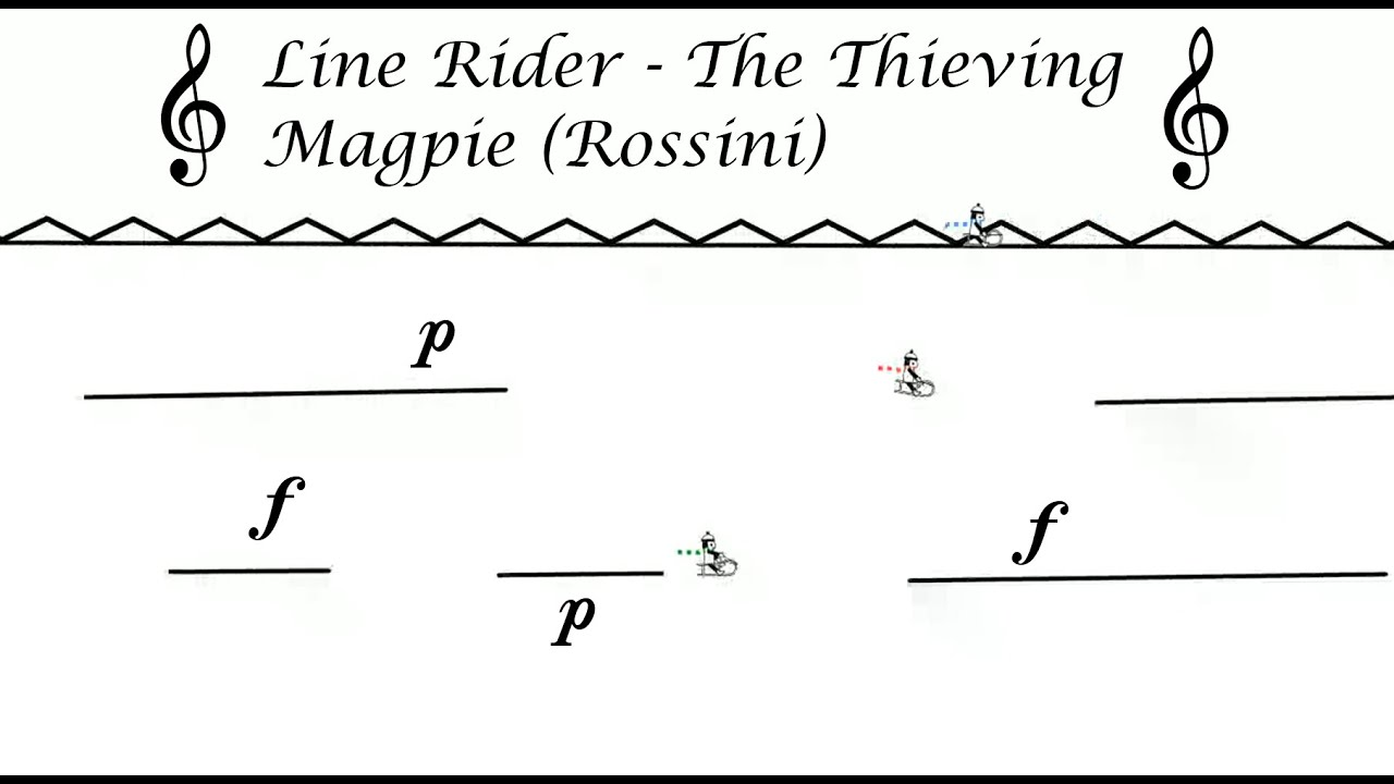 Line Rider - The Thieving Magpie (Rossini)