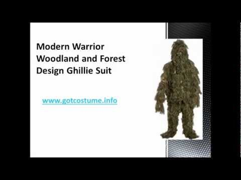 One Size Fit... 3-Piece Modern Warrior Woodland and Forest Design Ghillie Suit