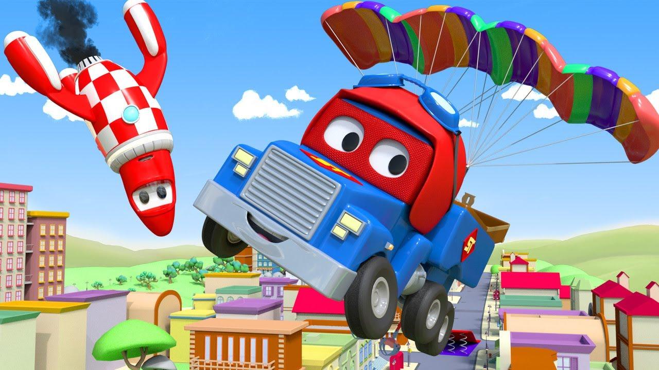 Truck videos for kids -  The Parachute Truck - Super Truck in Car City