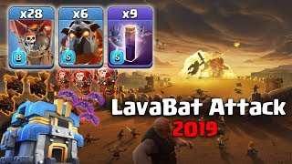 TH12 WAR 3 STAR ATTACK STRATEGY 2019 (Updated) 6 Lava + 9 Bat Spell + 28 Max Balloon | Clash of Clan