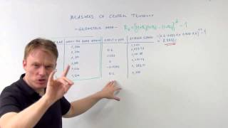cfa measures of central tendency the geometric mean - cfa-course.com