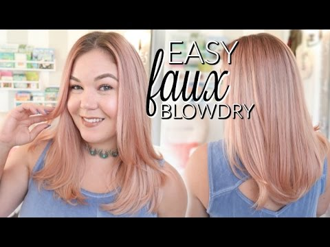 5 MINUTE Easy Faux Blowout! + HOT TOOL GIVEAWAY (OPEN)