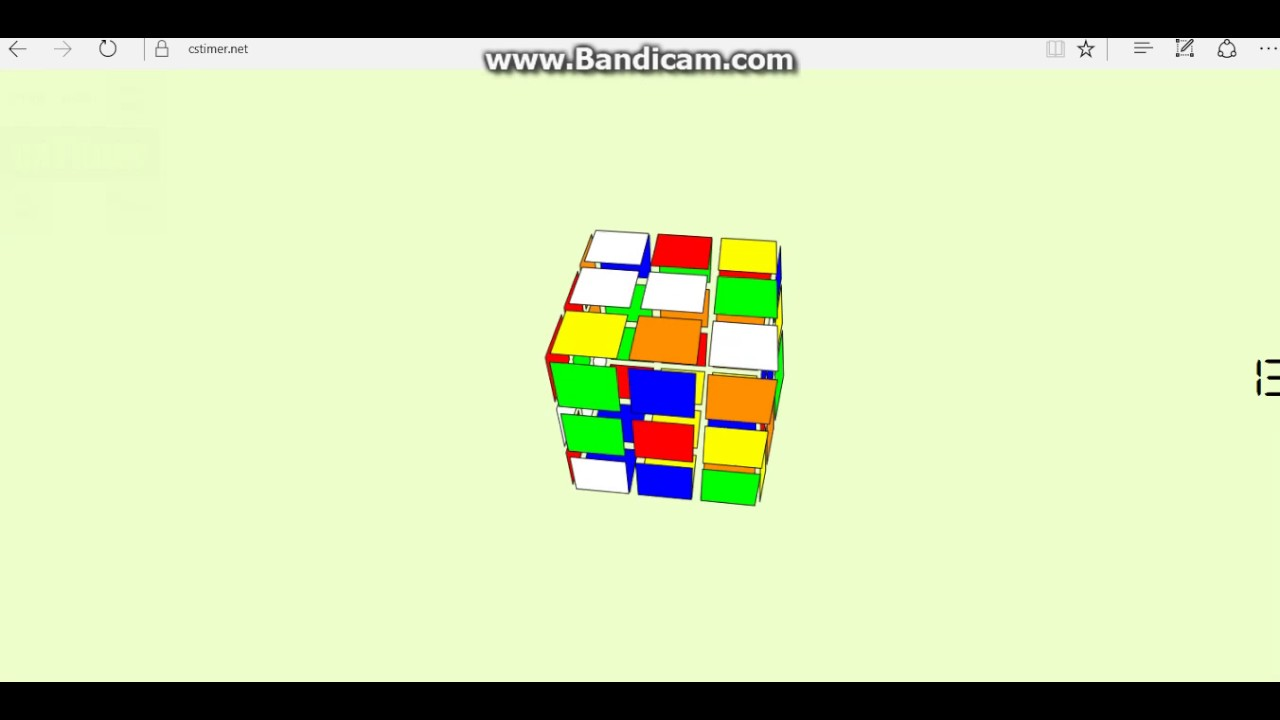 Cstimer Virtual 3x3 Rubik's Cube 20 43 average of 12