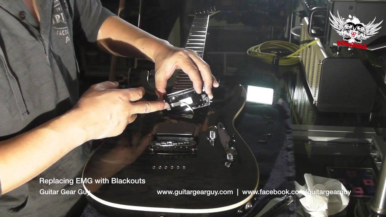 medium resolution of replacing emg with blackouts youtube replacing emg with blackouts youtube emg 707 wiring kit replacing emg with blackouts