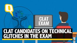 CLAT candidates on technical glitches in the exam
