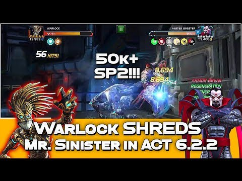Warlock vs Mr. Sinister Act 6.2.2 - w/o Heimdall Synergy - Marvel Contest of Champions