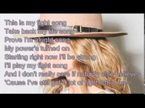 Fight Song  - Rachel Platten  [ Lyric ]