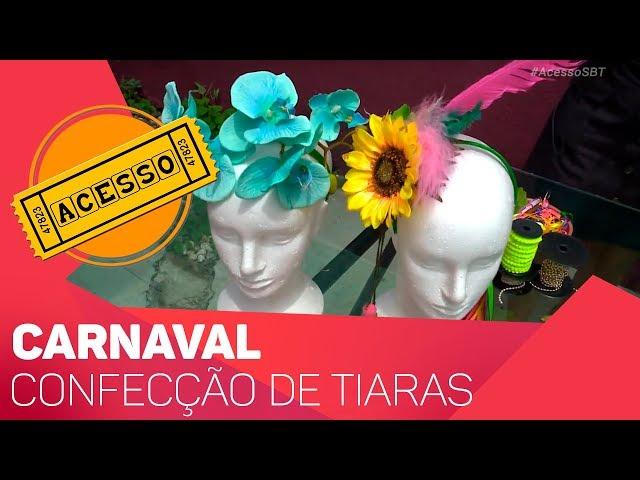 Confecção de tiaras para o Carnaval - TV SOROCABA/SBT