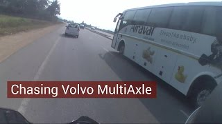 chasing volvo multiaxle at 90 100km h   volvo bus speed