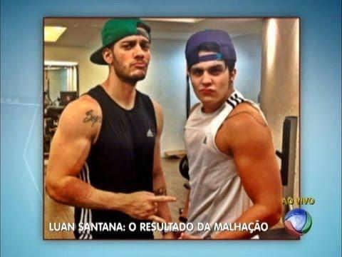"""Luan Santana aparece """"bombado"""" em foto na internet"""