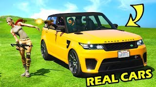 REAL CARS IN FORTNITE!!! RAVEN GANG DRIVE VON JOHN WICK! FORTNITE x GTA 5 Mods