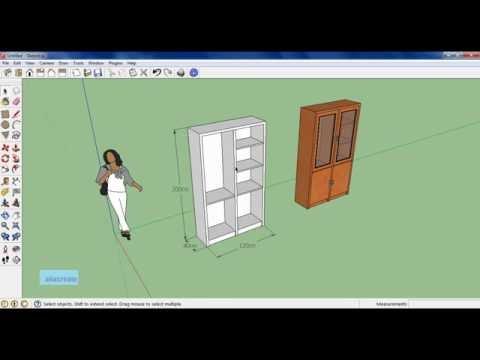 Sketchup tutorial membuat lemari Part 2