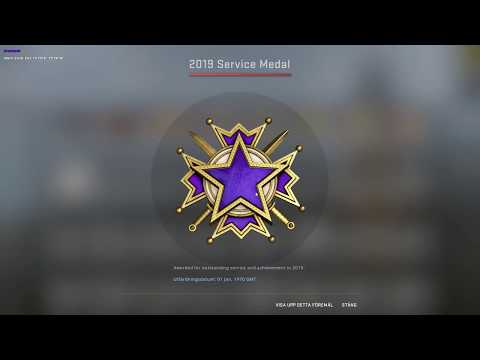 All New CS:GO 2019 Service Medal!!! And The 10 Year Veteran Coin.